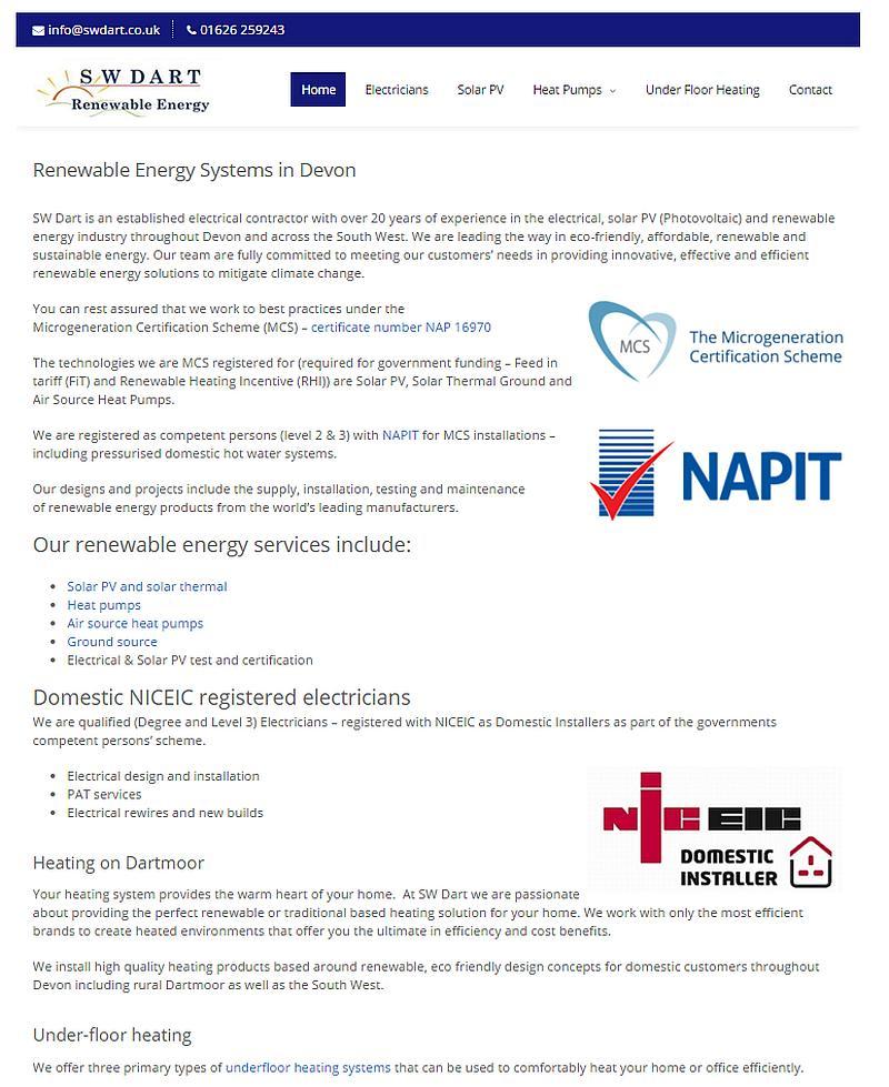 SW DART | Renewable Energy Supply and Installation in Devon