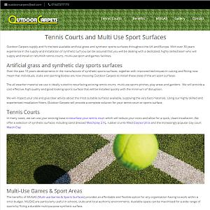 Outdoor Carpets Tennis Courts and Sports Surfaces