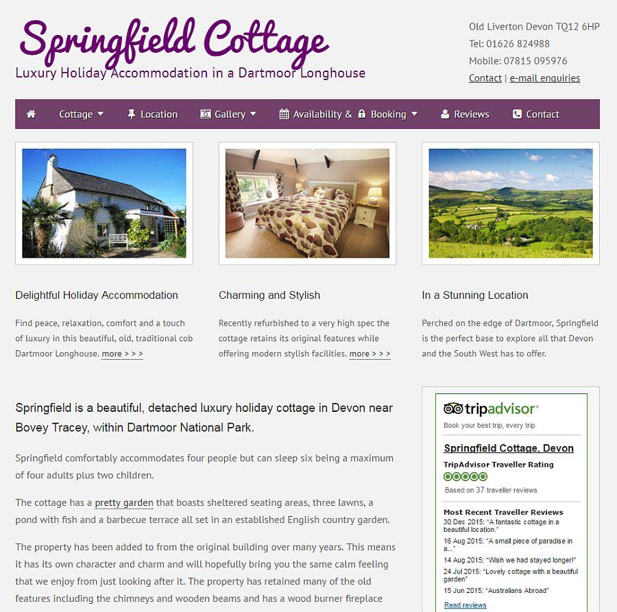 Springfield Holiday Cottage Devon
