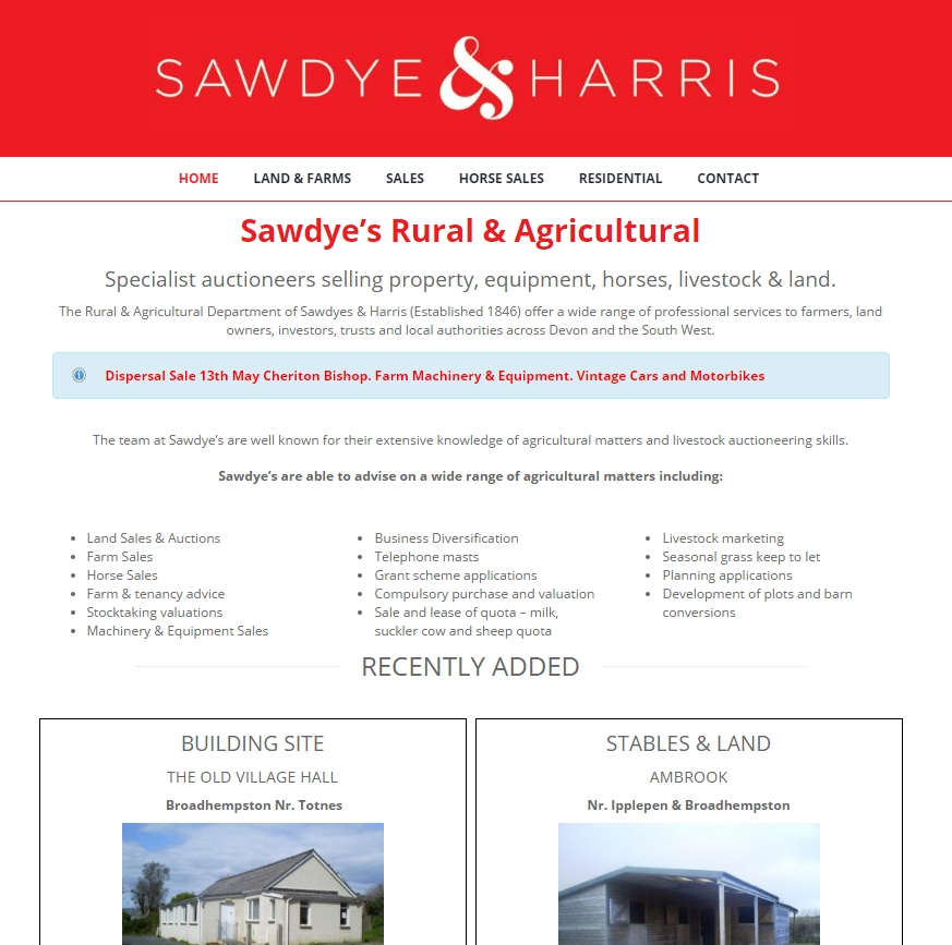 Sawdyes Rural screenshot website